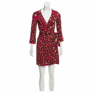 Diane Von Furstenberg Julian Wrap Dress Sz 0